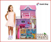 Большой кукольный домик для детей Toys Princess Деревянный детский домик для кукол Ляльковий будинок для дітей