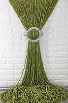 Шторы-нити Кисея Спираль Фисташка, однотонное, фото 2