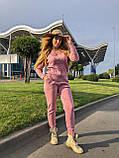 Женский теплый вязаный костюм с узором,в розовом цвете,р.42/46, фото 3