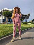 Женский теплый вязаный костюм с узором,в розовом цвете,р.42/46, фото 2