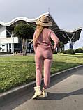 Женский теплый вязаный костюм с узором,в розовом цвете,р.42/46, фото 4