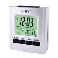 Часы электронные говорящие VST-7027, температура, 2*AA