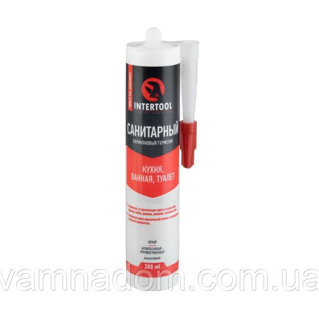 Герметик силиконовый санитарный, белый, 300мл/320г INTERTOOL FS-3031