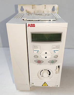 Б/У Частотный преобразователь ABB ACS150-01E-07A5-2. 1,5 кВт. Требует ремонта, сгорел силивой модуль, фото 2