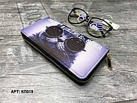 Кошелек органайзер на молнии компактный Кот в очках КЛ019, фото 1