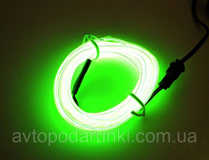 Холодный неон с КАНТОМ 5 метров (LEMON) ярко  ЗЕЛЕНЫЙ, светодиодная молдинг-лента, неоновая нить полоска