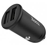 Автомобильное зарядное устройство Hoco Z30 2USB 3.1A Black, фото 1