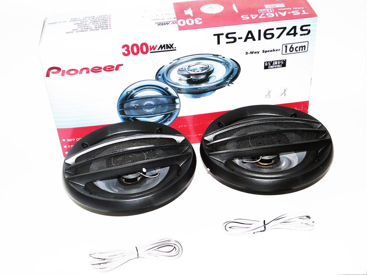 Автомобильные динамики Pioneer TS-A 1674S (250 Вт) 16 см