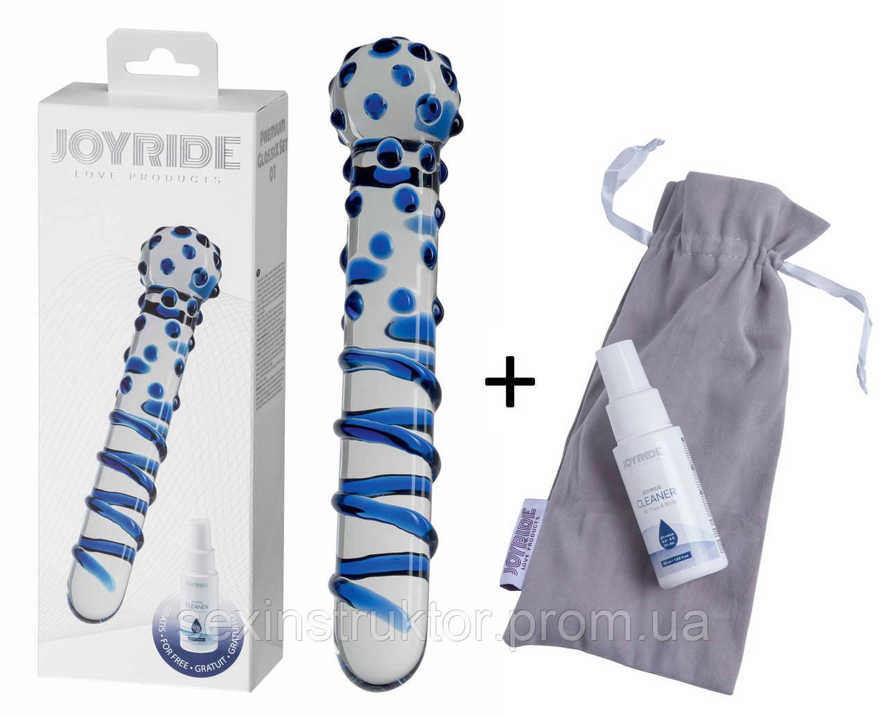 Скляний фалоімітатор - JOYRIDE Premium GlassiX Set 07