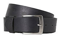 Кожаный мужской ремень для брюк H&M черный, фото 1