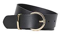 Кожаный женский ремень H&M черный, фото 1