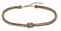 Золотистый женский металлический ремень, пояс H&M 0807616001, фото 1