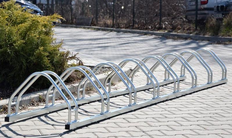 Велопарковка на 9 велосипедов Echo-9 inox нержавеющая сталь Польша