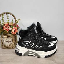 Зимові кросівки жіночі на хутрі чорні 36-41 р арт 688-1
