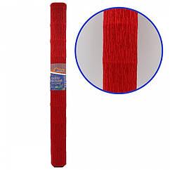 Креп-Бумага 150% Размер 50*200см, 95г/м2, Темно-красный