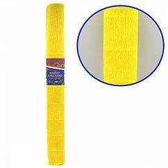 Креп-Бумага 150% Размер 50*200см, 95г/м2, Темно-желтый