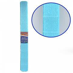 Креп-Бумага 150% Размер 50*200см, 95г/м2, Небесно-голубой