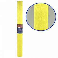 Креп-Бумага 150% Размер 50*200см, 95г/м2, Светло-желтый
