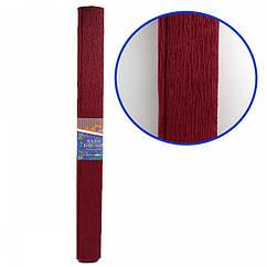 Креп-Бумага 150% Размер 50*200см, 95г/м2, Бордовый