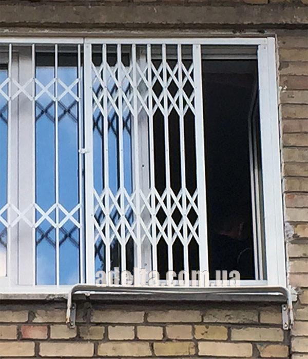 Решетки раздвижные на окна Шир.2100*Выс1550мм