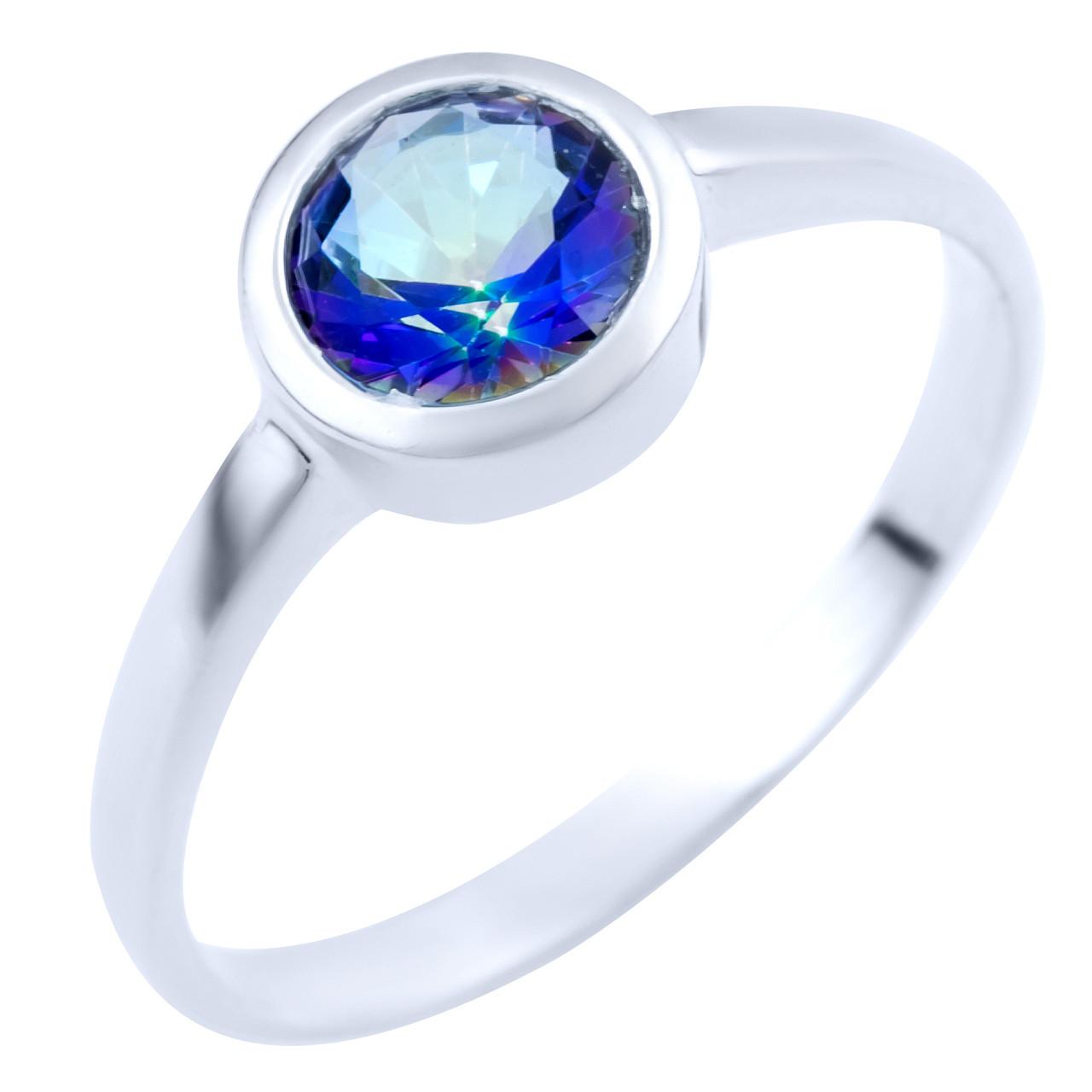 Серебряное кольцо DreamJewelry с натуральным мистик топазом 0.613ct (1838013) 18 размер