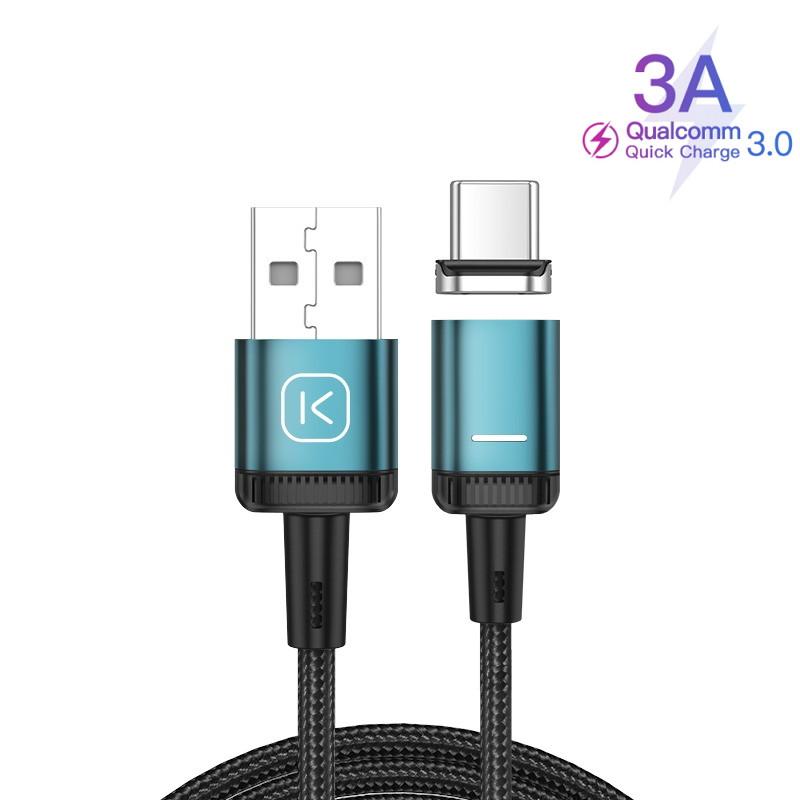 Магнитный кабель USB - Type-C (1m)  провод для зарядки и передачи данных Android телефона смартфона KUULAA