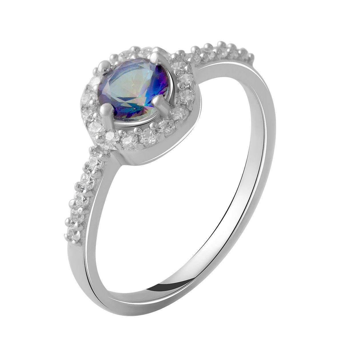 Серебряное кольцо DreamJewelry с натуральным мистик топазом 0.775ct (2049104) 17.5 размер