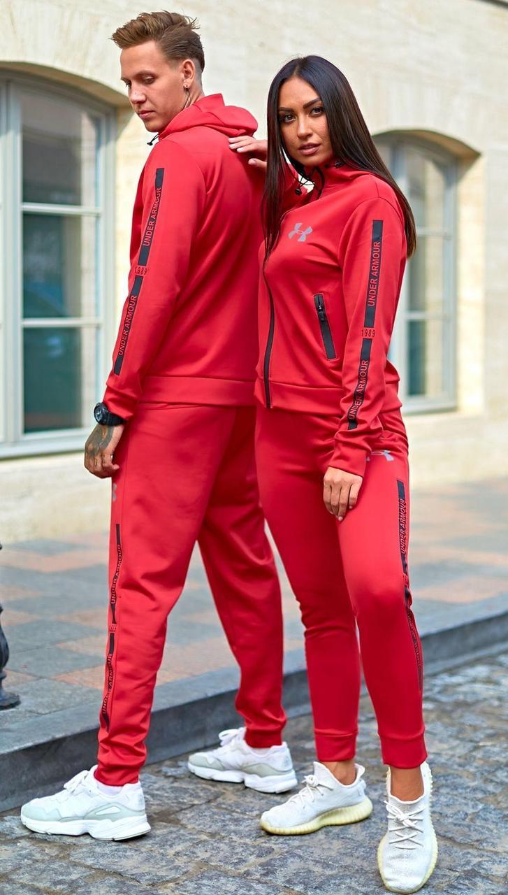 Парный спортивный костюм, для него и нее, мужской и женский. Ткань: дайвинг.