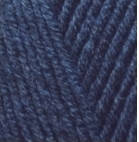 Турецкая пряжа Alize Lanagold для ручного вязания полушерсть темно синий №58
