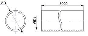 Труба гладкая жесткая ПВХ d=16мм серая (111м) 3м IEK, фото 2