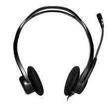 Наушники с микрофоном проводные USB Logitech PC 960 (981-000100) каб.2.4м рег.гр. выкл.микр. чёрный новые