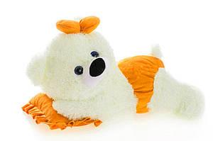 DIZZY Плюшевая мишка Малышка 45 см белый с оранжевым