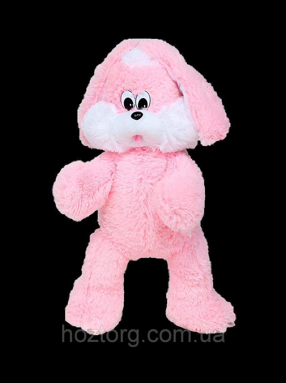 Мягкая игрушка DIZZY зайка Снежок 65 см розовый