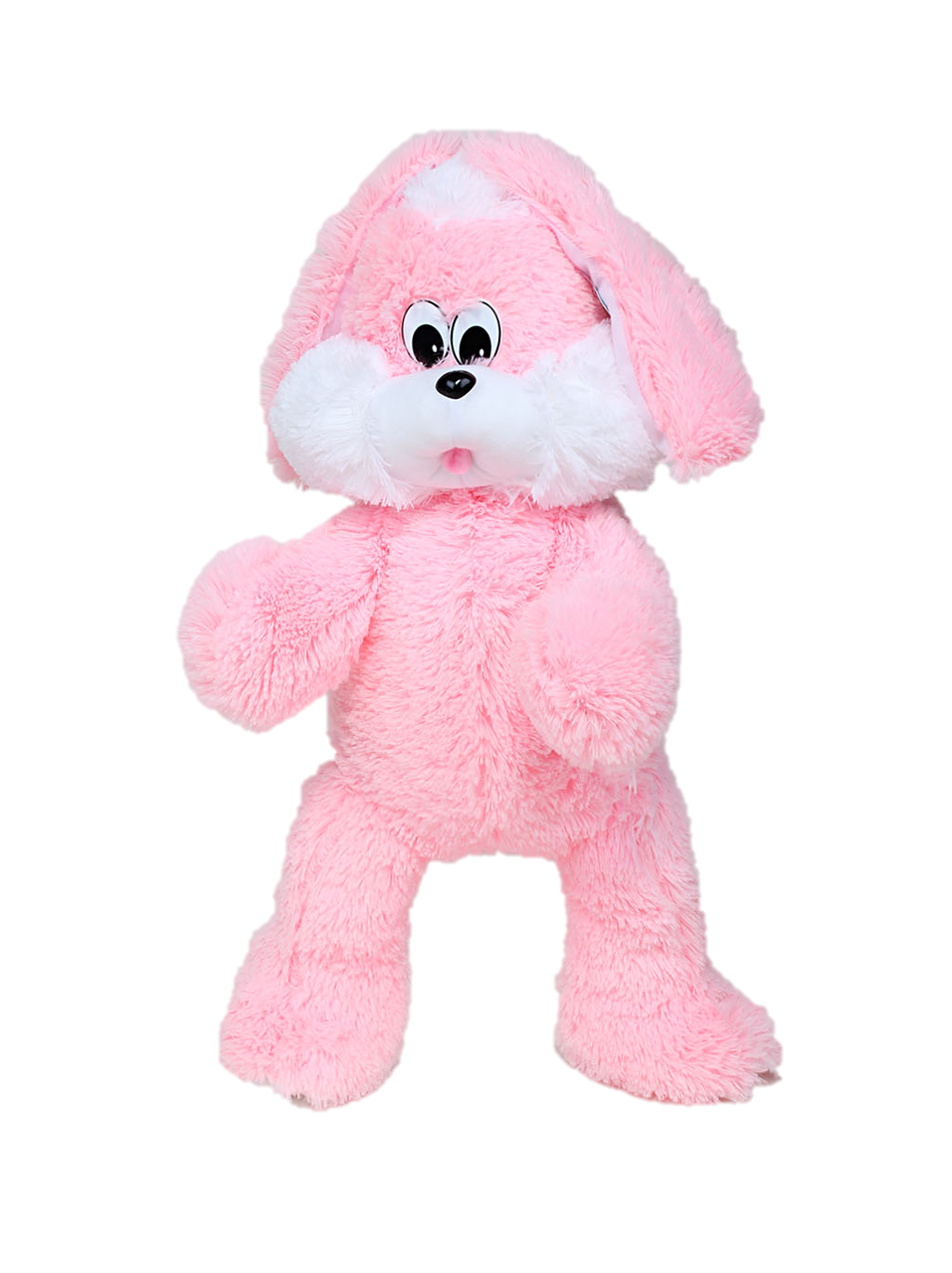 Мягкая игрушка DIZZY Зайка Снежок 90 см розовый