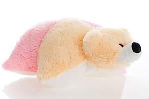 Подушка DIZZY ведмедик 55 см персиковий і рожевий