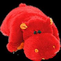 Подушка Бегемот 55 см красный
