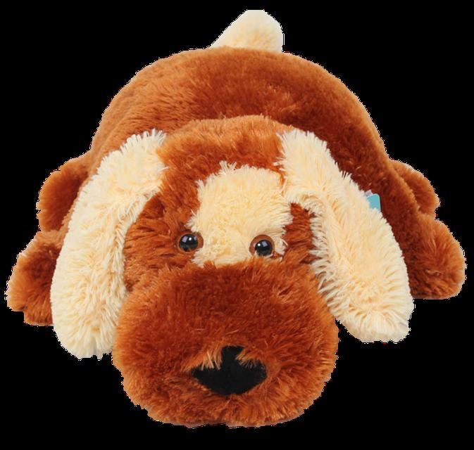Подушка собачка DIZZY Шарик 45 см коричневый