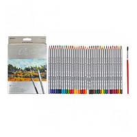 Цветные акварельные карандаши MARCO (Марко) Raffine 7120-36CB, Набор 36 цветов с кисточкой