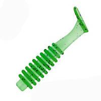 Виброхвост-Т 2. Цвет-09 Салатовый (люминесцентный зеленый), Размер 5,08 см. 10 шт.