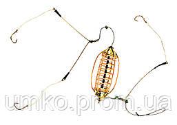 Кормушка Sky Fish Монтаж Осн.арбуз некрашенный (отвод,коромысло,3 крючка) 25 гр.