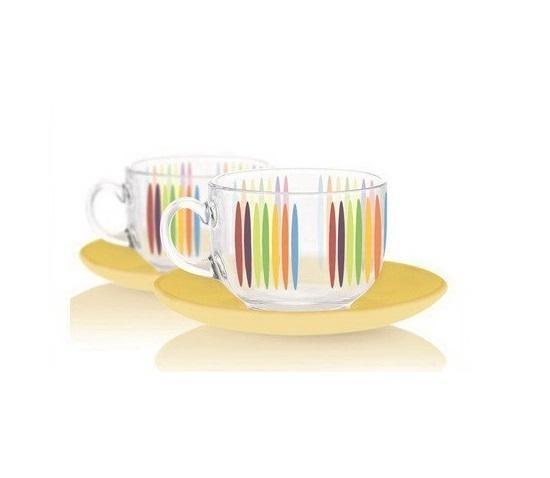 Набор чайный Luminarc Evolution Evolution Fizz 220мл. 6шт, блюдца 140мм 6шт