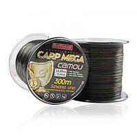 Леска CARP MEGA - CAMOU 300 m / 0.20 mm