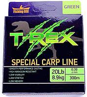 Леска Fishing ROI T-REX Special Carp Line Green 0.30mm 300m 8.9kg