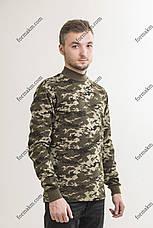 Гольф Военный с начесом Зимний Пограничник, фото 3