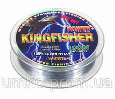 Волосінь Winner King Fisher 100м 0,28 мм 10,50 кг біла