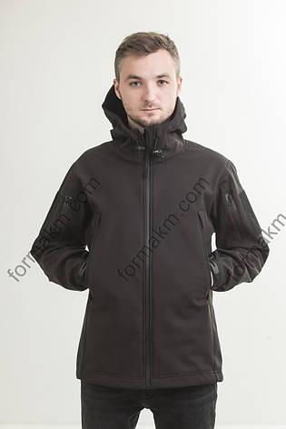 Куртка тактическая демисезонная  SoftShell чёрная, фото 2