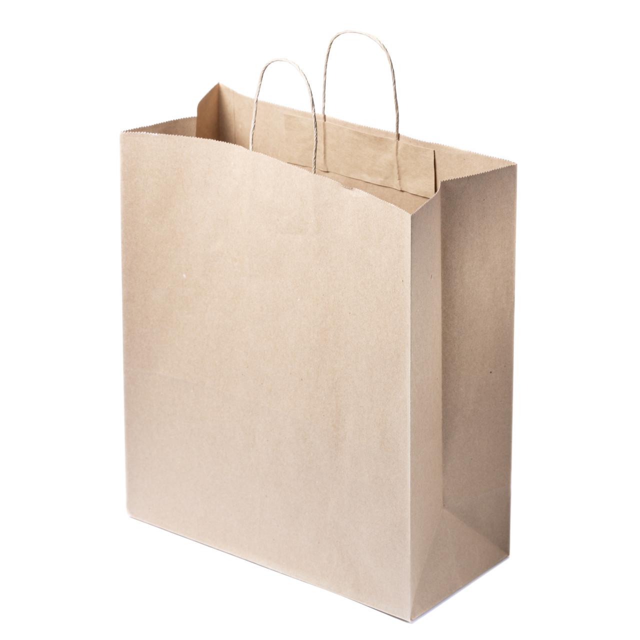 Пакет с ручками бумажный 320 мм*150 мм*380 мм оптом