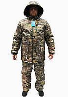 Костюм для рыбалки и охоты зимний SkyFish,ткань оксфорд,костюм рыбацкий (Мультикам) р.56-58, фото 1