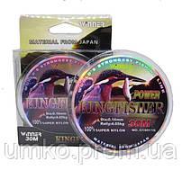 Волосінь Winner King Fisher 30м 0,22 мм 7,40 кг біла