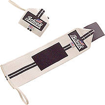 Кистевые бинты на запястья SCHIEK Line Wrist Wraps 1124 60 см (пара) черный\ красный, фото 3